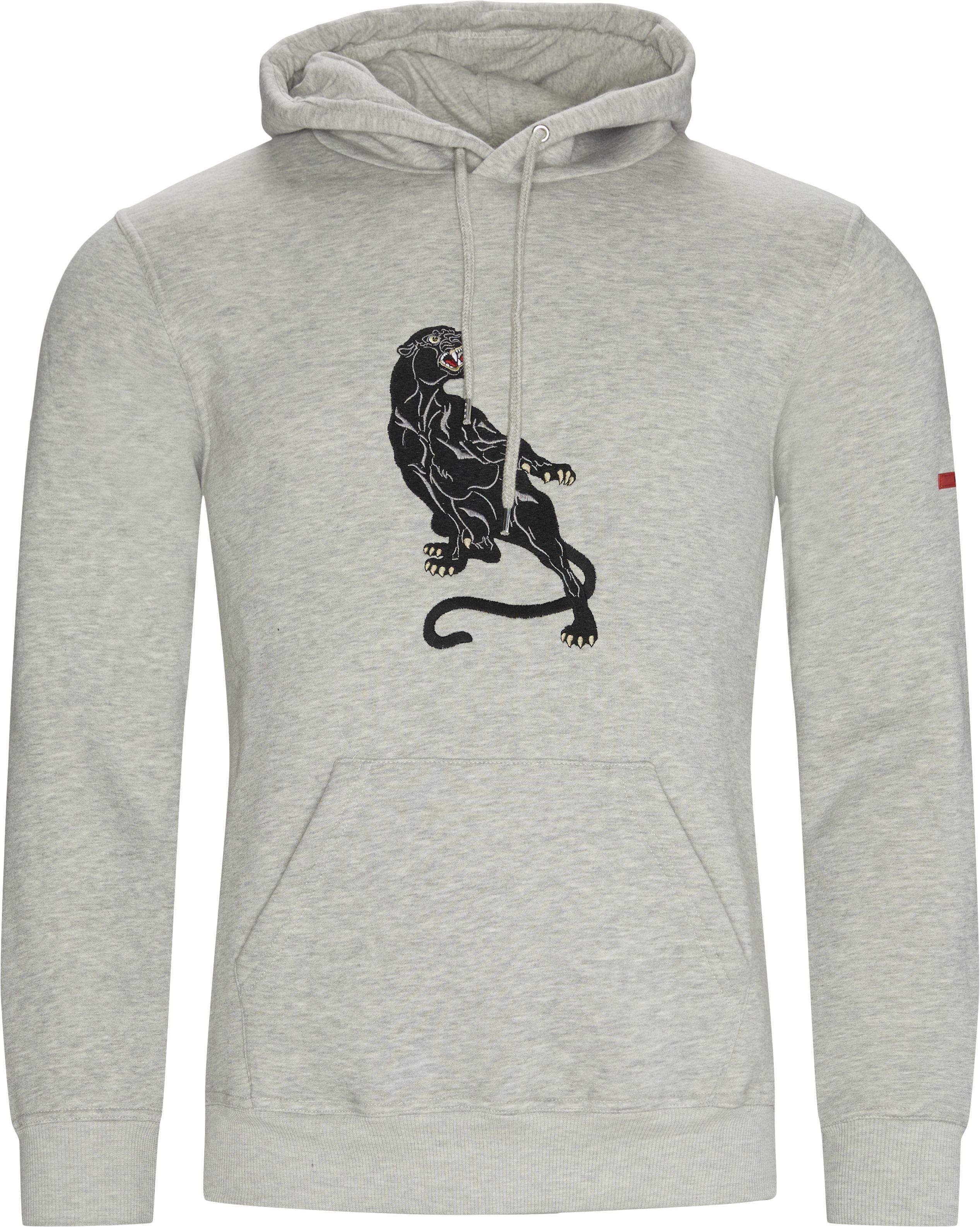 Panther Hoodie - Sweatshirts - Regular - Grå
